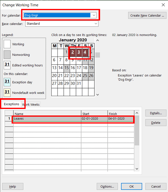 Adjusting Work Timings for Resources in MS Project - pmwares - 2